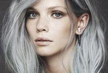 Silver is the new Black ❤️ / Tendencia para este 2015 #Silver #Hair  Lo amamos!
