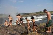 Things to do in Victoria Falls - Livingstone island & Devils Pool / http://www.victoriafalls-guide.net/devils-pool.html