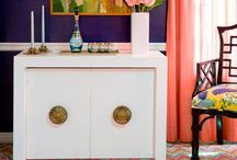interior design (hollywood regency) / ...kissing cousin of Chinoisiere / by Cynthia Dartley
