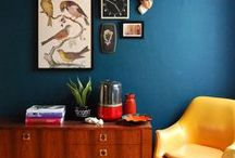 interior design (dark hues) / great usage of 'the dark side' / by Cynthia Dartley