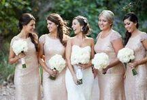 Bridesmaids / Beautiful bridesmaids and dresses.