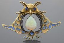 Art Nouveau - Artdeco - Jugendstil jewelry / 1900-as évek gyönyörű ékszerei, üveg alkotásai, lámpái