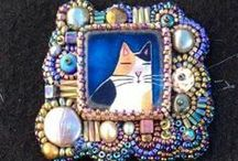 Beads embroidery, my world / beads emrodery
