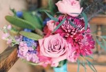 Pink bridal bouquets / Different shades of pink that have been incorporated into bridal bouquets.