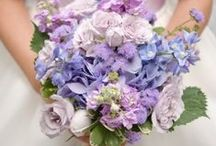 Purple bridal bouquets / Different shades of purple.