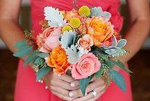 Orange bouquets / Different shade of orange and peach.