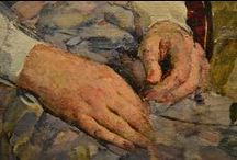 PAINTING - hands / Руки, hands, las manos.