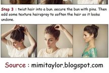 Hairstyles / Hairstyle Ideas, inspiration, Products...