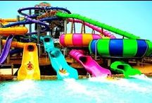 Water slides and toboggans  / I like water sliding always when I'm on holidays, that's free and it's giving me feeling freedom and lot of fun.. with friends and family. :)))