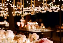 l i g h t i n g / Creative decorating ideas for a low cost wedding reception (lighting & drapes).