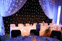 b a c k d r o p s / Creative decorating ideas at a low cost for wedding backdrops (drapes & lighting).