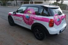 Mini Cooper CountryMan branding / Catchy street marketing car branding for Carefree 2014 activation