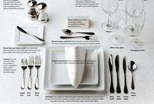 TABLEWARE TUTORIALS / Come apparecchiare la tavola.