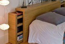Meubles bois: tables de lit et amenagement chambre