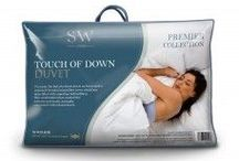 Duvets / We are specialists in this department. We have a huge range of natural and synthetic duvet and pillow sets; polypropylene, polycotton, anti-allergy, Egyptian cotton, brushed microfiber, natural duck feather and down, natural goose feather and down, goose down, Hungarian goose down. Available is all bed sizes; single, double, king and superking, all togs; 4.5, 7.5, 10.5, 12.0, 13.5 and 15.0 tog, and weights; 600, 750, 800, 1000 and 1200 gram.