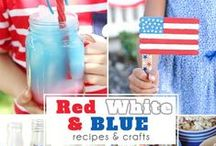 Red White and Blue / Delicious red white and blue  desserts, recipes and crafts for patriotic Memorial Day and 4th of July celebrations