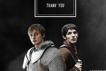 king + lionheart / Everything having to do with Arthurian legend, in particular that megasupercallifrabjoustastic BBC tv series, Merlin.