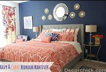 Navy and Coral / I want to use Navy, Coral, grey and white in our house....just not sure which room yet / by Cheryl Sousan | Tidymom.net