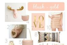 color story: blush + gold