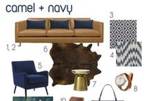 color story: navy + camel