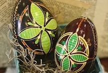 Ukrainian Easter Eggs / Decorated eggs~pysanky.  / by Connie Mercer