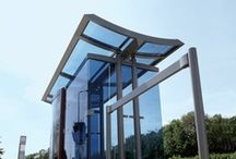 Abris & shelters / Abris bicycle shelters transport shelters