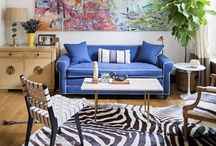 ECLECTIC HOME DECOR / Mixed, colorful, bright homedecor