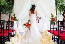 An Island Flare Wedding Inpiration / Producer- Make My Day Count The Cocoa Cakery Alicia Thurston Photography Florals- Ooh la la Designs Hair & Makeup -Nicole Richards Small Impressions Plate Occasions Cabana-G.P.S. Decors Helix Candles The Doctor's House Susan Murray Dance Floor Decor Ines Di Santo The Loved One Shoes-Christian Louboutin Model-Chayna Steel Pan: Aaron Roberts Food-Make My Day Count Ice Cream-Bon Bons & Brittle Palm Trees,Chairs-FOS Decor Bamboo-Botanico Parrot-Decor & More Roti Skin-Roti Roti