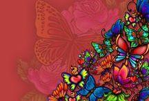 Butterflies / Vlinders / De vlinder is mijn mascotte. Het symboliseert voor mij niet alleen ziekte (mijn moeder), dood (mijn vader, moeder en mijn soulmate/beste vriendin) en de liefde (mijn allergrootste liefde), maar ook een nieuw begin (een nieuwe start.. die ik nog steeds moeilijk vind om te doen..)... Ik gebruik de vlinder als logo op mijn website en als tattoo op mijn arm, zodat wat geweest is nooit verloren zal gaan en omdat het bij mij hoort....