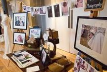 Wedding Fair Inspiration - Photography / Wedding Fair stall inspiration from all over the world, all showing great and different ways of presenting photographic work.