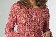 Blusas para inverno de crochê
