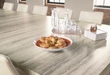 Laminate and Decorative Metal Tops / Laminate has come a long way! We carry Wilsonart and Formica brands. In recent years they have really come out with some beautiful tops. Laminate is a budget friendly alternative to the natural stone tops. We also offer a line of decorative metal for the modernist.