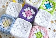Lovely Squares / Variations of crocheted Square and beautiful photos with them