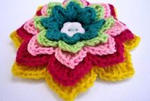 From Yarn to the Flora / Crocheted & knitted flowers, leaves, trees