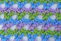 Patterns for knit and crochet / Patterns, using different knit and crochet stiches.