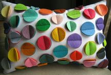 Pillows and felt crafts