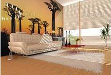 Ambiance africaine - tableaux & papiers peints / Peinture africaine & Papiers peints africain #papiers #peints #papier #peint #tableaux #tableau #peinture #decor #design