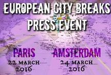 European City Breaks / The 5th edition of the European City Breaks Press Event will take place on 24th March in Amsterdam. The premier edition of the Paris event will be on 22th March. http://bit.ly/CityBreaksEvent