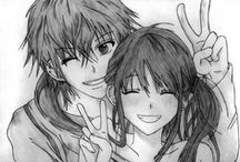 couples ! ! / fan art or original art; nott characters from animes.