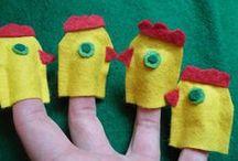 DIY bábkészítés otthon vagy oviban / bábkészítési ötletek, inspirációk, DIY puppets: különféle alapanyagok és más-más típusú bábok