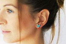 PLAYWOOD - plywood earrings by ALIZI DESIGN / Earrings are made of 2mm plywood, laser cut and hand painted.