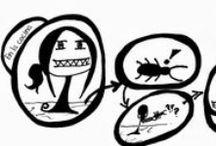 """Engelke's world / Algunas tiras cómicas de """"El mundo de Engelke"""" realizadas por Saray Pavón."""