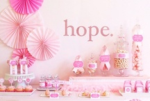 Pink Partyscapes / Tablescapes, DIY decorations and inspirations for hosting your own Pink October party...