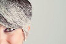 Silver Grey hair