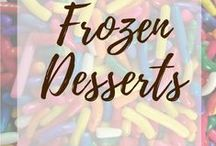 Frozen desserts / Mm... Ice creams, popsicles, and more! I love frozen desserts all year long!