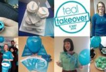 Teal Takeover 2016 / Are you ready for another Teal Takeover? Join Ovarian Cancer Action on Sunday 8 May 2016 and wear teal at home, work or school