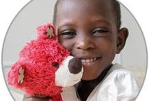 healing hugs / Medical care + a bear to hug = hope & healing for the world's poorest kids
