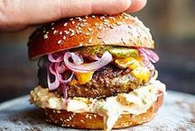 Recipes: Burgers! + Fries! / Burgers and fries of all kinds. Meat and veg.