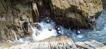 Coasteering / Looking to have a bit of fun and adventure on holiday try Coasteering on the Pembrokeshire Coast