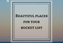 Beautiful Places for your Bucket List / Ultimate travel bucket list ideas. Places to visit before I die. Wanderlust destinations. USA, Europe, Hawaii, New Zealand, etc. Places to visit for couples.